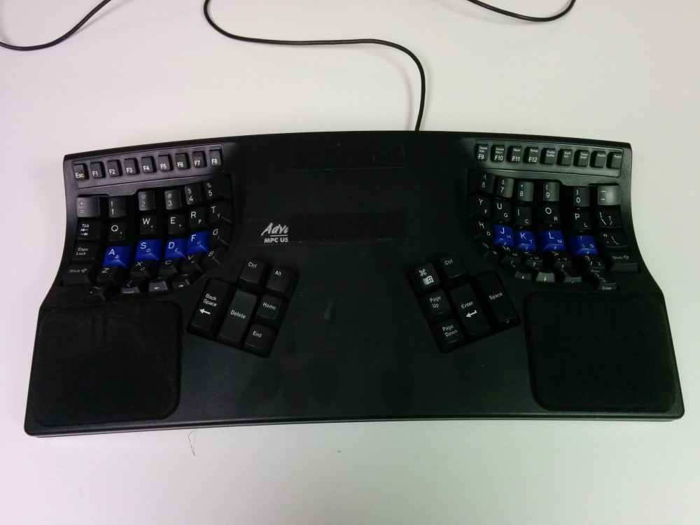 Well-used Kinesis Advantage Pro keyboard